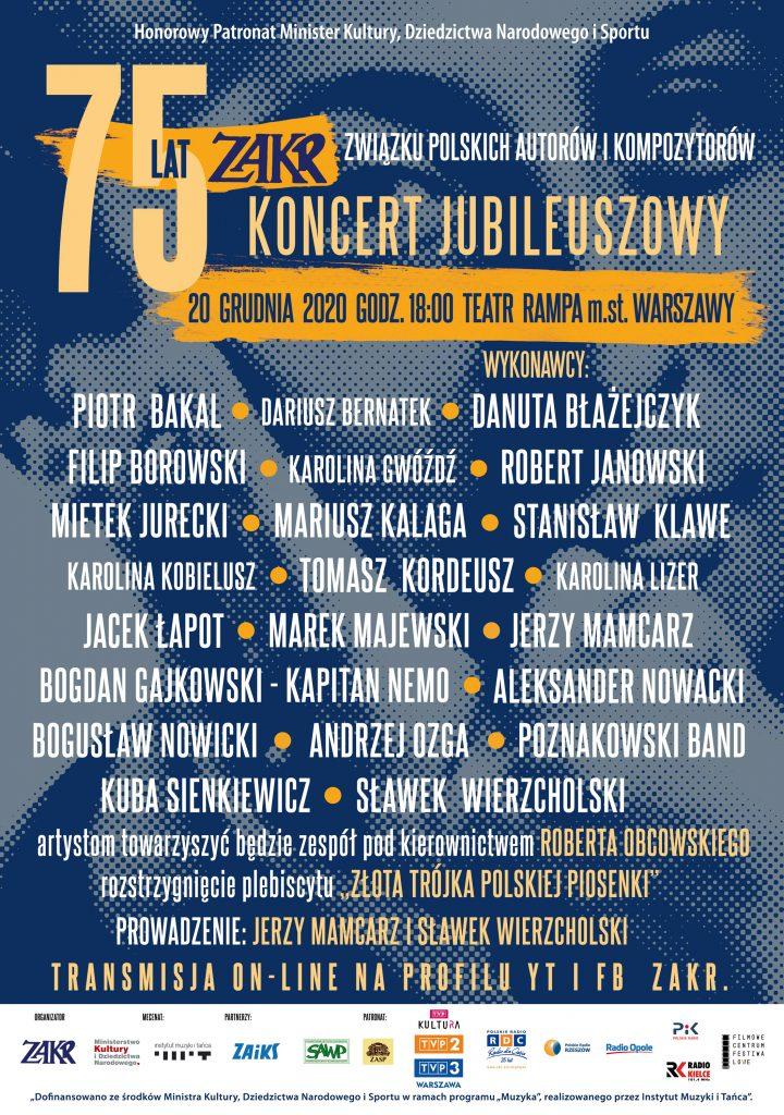 plakat Koncertu Jubileuszowego 75 lat ZAKR (1)