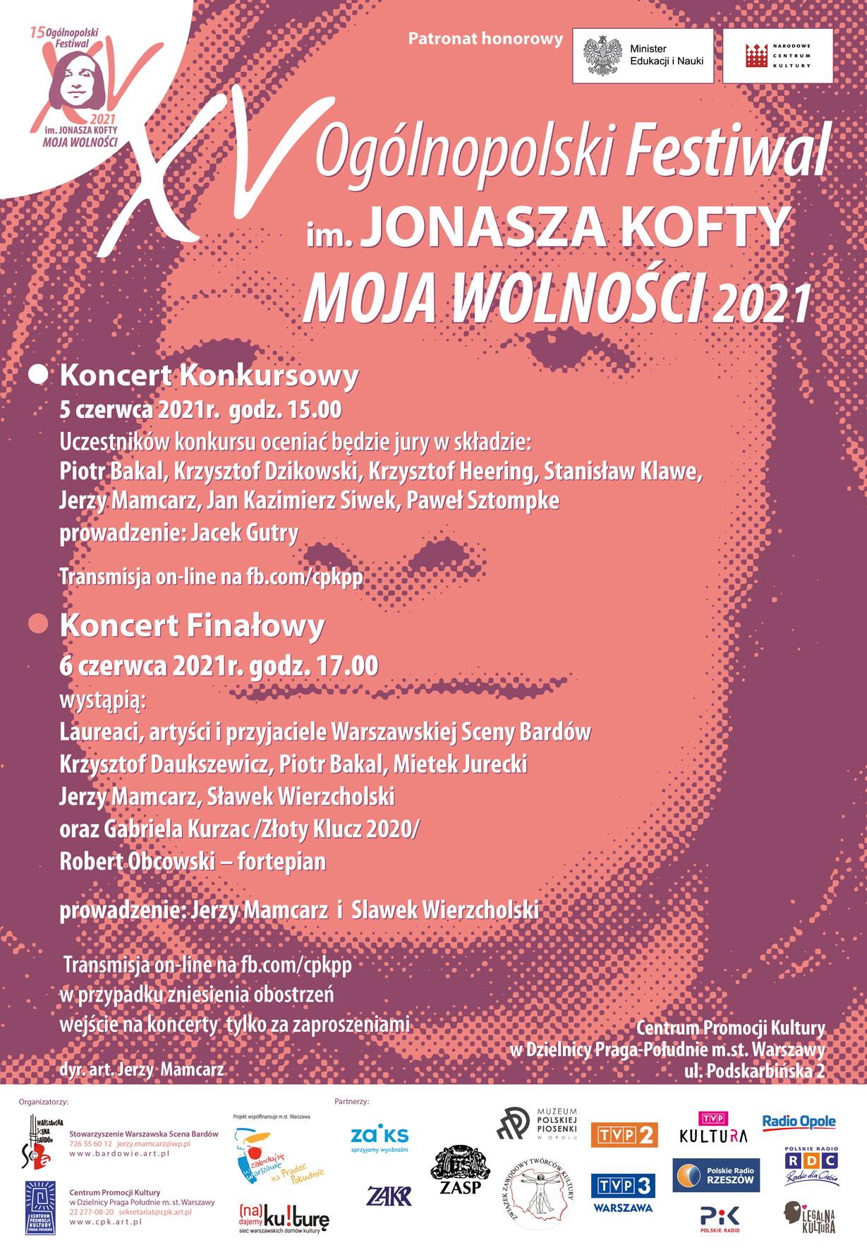 KOFTA 2021 XV Festiwal plakat