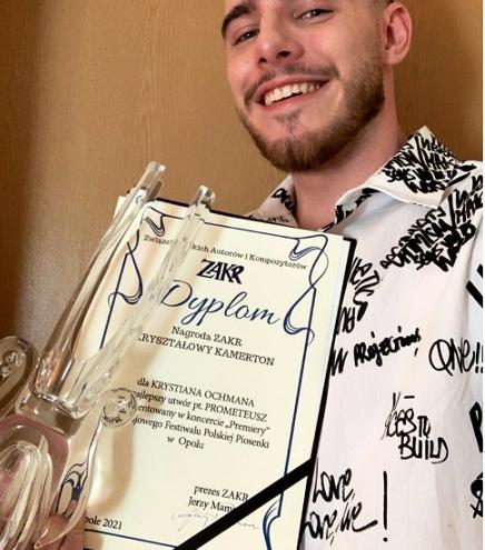 ZAKR Krystian Ochman -nagroda KRYSZTAŁOWY KAMERTON 58.KFPP w Opolu